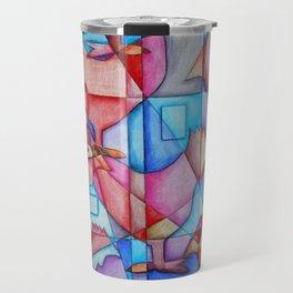 Cubist Chickens Travel Mug
