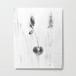 Black and White Cherry Metal Print