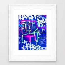 Blue Mood with Pink Language Framed Art Print