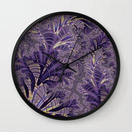Violet Fractal Wall Clock