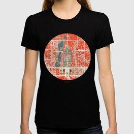 Beijing city map classic T-shirt
