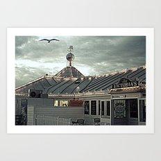 Victoria's at The Brighton Pier  Art Print