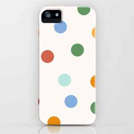 Colorful Polka Dots pattern iPhone Case