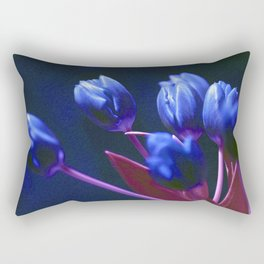 DARK BLUE TULIPS Rectangular Pillow