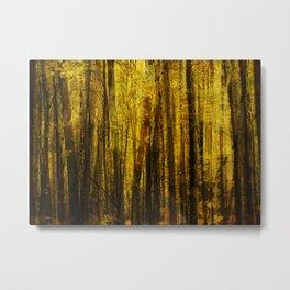 Forest Fuzz Metal Print