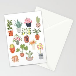 Indoor Garden Planters Stationery Cards