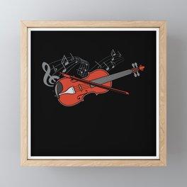 Violin Violin Player Lover Gift Idea Motif Framed Mini Art Print
