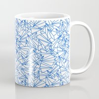 aviation Mugs featuring Schoolyard Aviation White by Dianne Delahunty