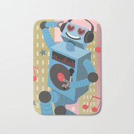 Robot DJ Bath Mat