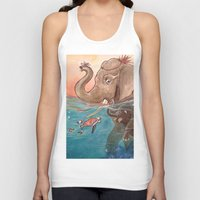 elephants Tank Tops featuring Elephants by Paloma  Galzi