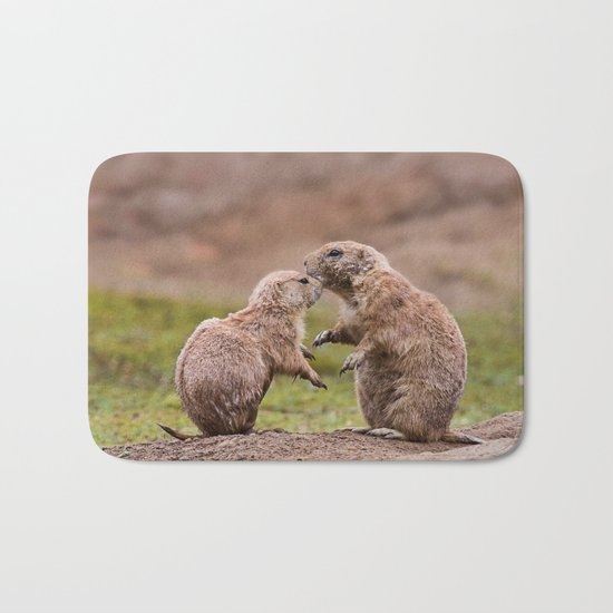 Cute little prairie dogs love Bath Mat