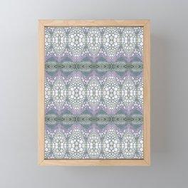 Arabidopsis flower stem microscopy cell pattern Framed Mini Art Print