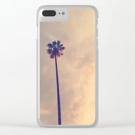 Los Angeles Palm Tree Pink Sky Clear iPhone Case