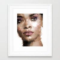 rihanna Framed Art Prints featuring Rihanna by Dnzsea