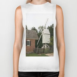 White Windmill - Colonial Williamsburg Biker Tank