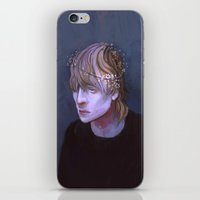dragon age iPhone & iPod Skins featuring cole dragon age flowers by Professional Elf