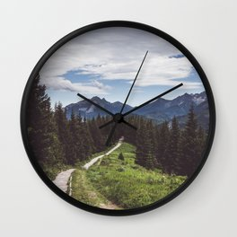 Greetings from the trail - Landscape and Nature Photography Wall Clock