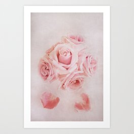 Fine Art Pink Pastel Roses Photography, Flower Art Print