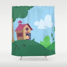 Peepoodo's house Shower Curtain