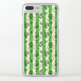 Stripes & Shells - green Clear iPhone Case