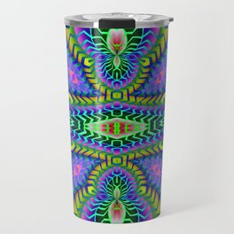 Tribal Rainbow Lotus Travel Mug
