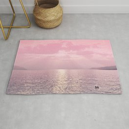 Kiss In The Lake At Sunset Rug