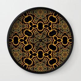 Yellow/Gold/Black Pattern Wall Clock