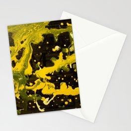 Yellow splot Stationery Cards