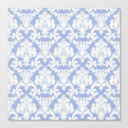 wedgewood blue damask Canvas Print