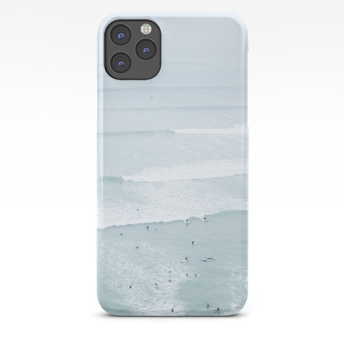 Tiny Surfers from the Sky, Lima, Peru iPhone Case
