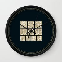 labyrinth Wall Clocks featuring Labyrinth by MacGuffin Designs