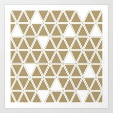 Tan Triangles Art Print