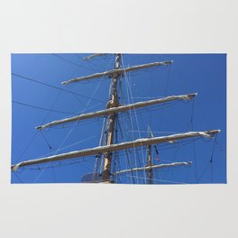 Old Sailing Ship Mast Rug