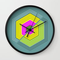 illusion Wall Clocks featuring ILLUSION by d.ts