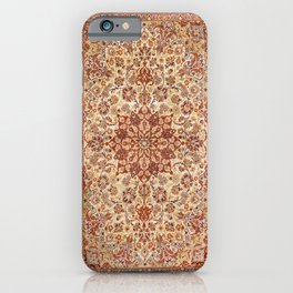 Persia Isfahan 19th Century Authentic Colorful Muted Cream Blush Tan Vintage Patterns iPhone Case