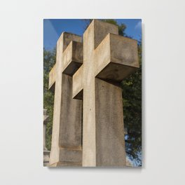 The Double Cross Metal Print