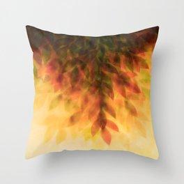 Foliage – autumn fire Throw Pillow