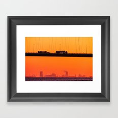 Working Dawn Framed Art Print