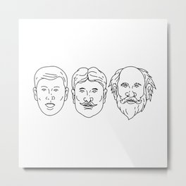 Morphing from Young Adult Middle Age Drawing Metal Print