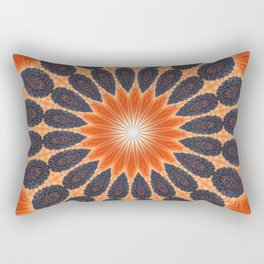 ABSTRACT SUNFLOWER Rectangular Pillow