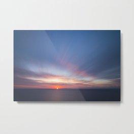 Malibu Sunrise D3 - California Ocean Sunrise Metal Print