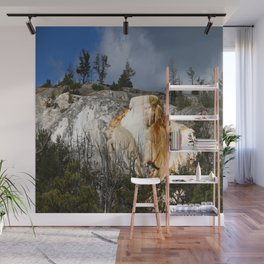 Mammoth Hot Spring Colors Wall Mural