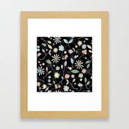 Chalkboard Scatter Framed Art Print