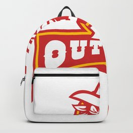 Bandit With Outlaw Text Retro Backpack