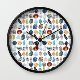 Illuminated Structure: Mineral Party 1 Wall Clock