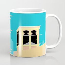Wind-towers of Bastakiya by Dubai Doodles 004 Coffee Mug