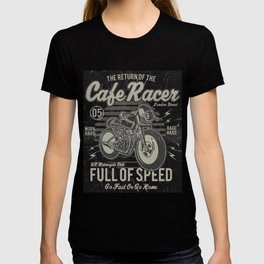 Caferacer Motorcycle Vintage Poster T-shirt