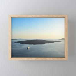 Nea Kameni | Santorini, Greece Framed Mini Art Print