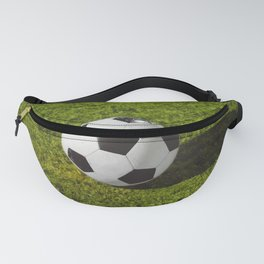 football in Station on green grass - Illustration Fanny Pack