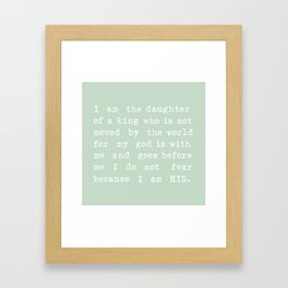 I Am His Mint Framed Art Print